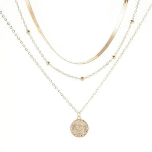 Radiate Sunshine Multilayer Necklace Necklace elliesage Gold