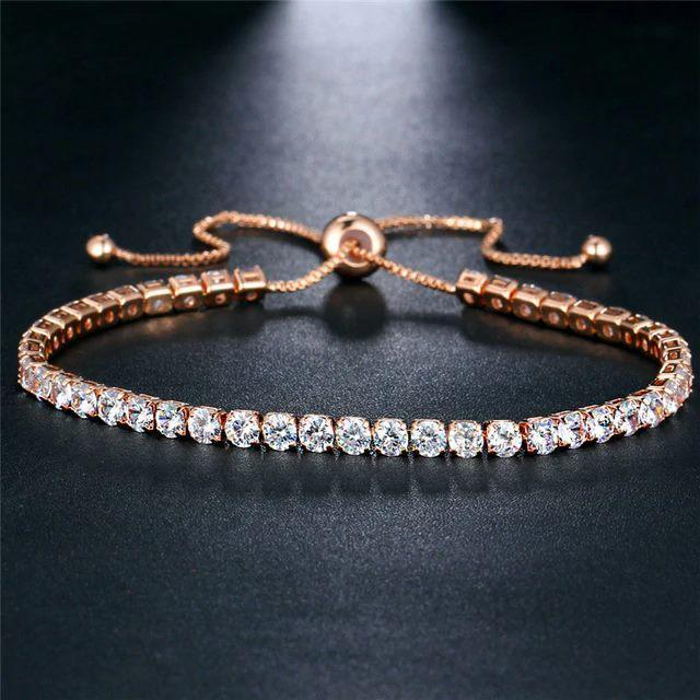 Shine Crystal Bracelet Bracelet Ellie Sage Rose Gold