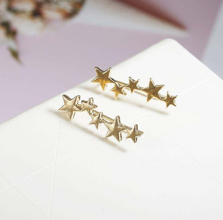 Starlight Ear Crawlers Earrings Ellie Sage Gold