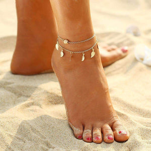 Wanderlust Breeze Duo Layer Anklet Anklet Ellie Sage