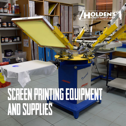 Holden's screen printing supplies and equipment for pros and novices