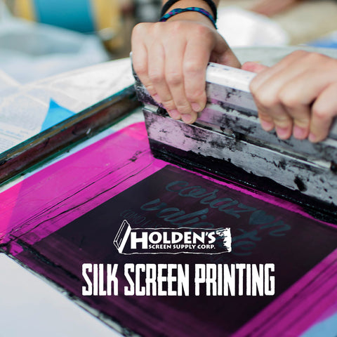 silk screen printing how-to by Holden's Screen Supply Corp