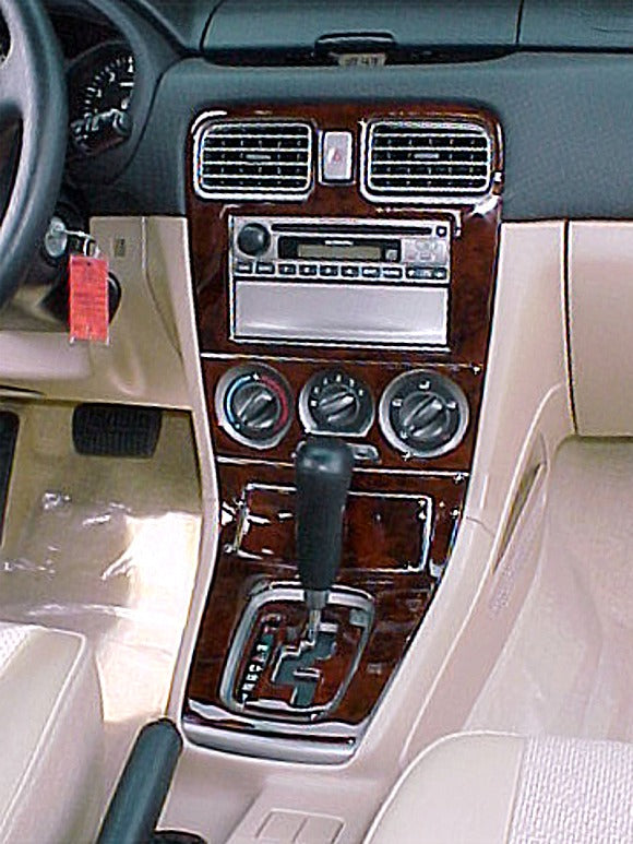 2004-2006 Subaru Forester Wood Grain Dash Trim Kit - DirectCarTrim