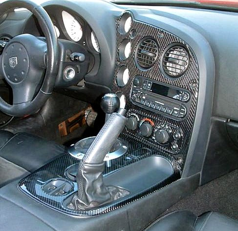 2003-2008 Dodge Viper Real Carbon Fiber Dash Trim Kit - DirectCarTrim