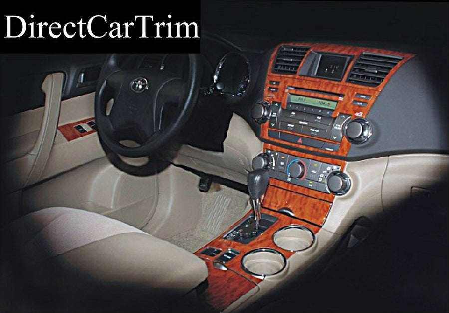 2008 Toyota Highlander Wood Grain Dash Trim Kit - DirectCarTrim