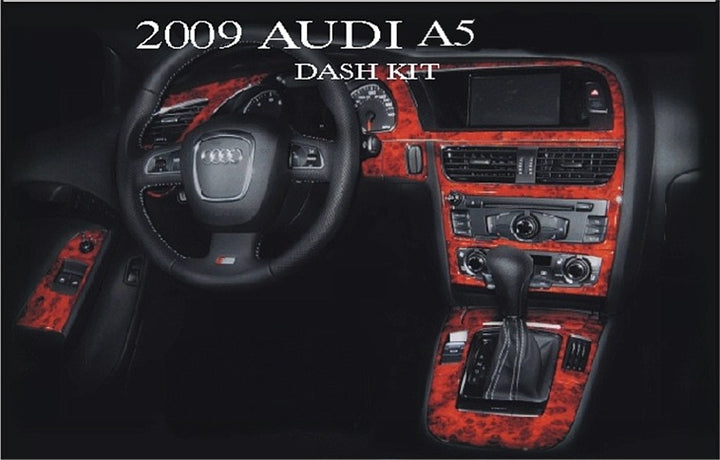 2009-2012 Audi A5 Wood Grain Dash Trim Kit - DirectCarTrim