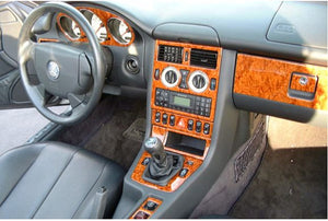 1999-2000 Mercedes Benz SLK Wood Grain Dash Trim Kit - DirectCarTrim