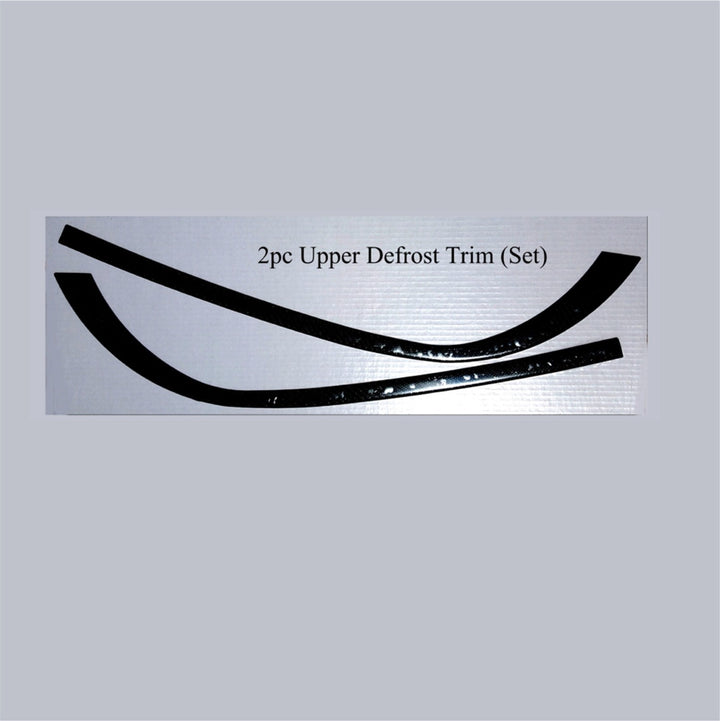 1999 - 2004 Porsche 996 Real Brushed Aluminum 2pc Upper Defrost Trim (Set) - DirectCarTrim