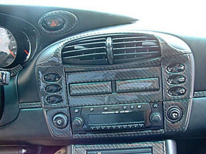 2002-2004 Porsche 996 Real Carbon Fiber Dash Trim Kit - DirectCarTrim