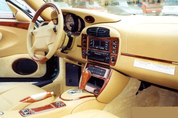 1999-2000 Porsche 996 Wood Grain Dash Trim Kit - DirectCarTrim