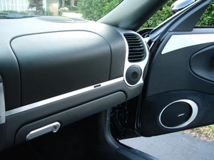 2000-2002 Porsche Boxster Real Brushed Aluminum Dash Trim Kit - DirectCarTrim