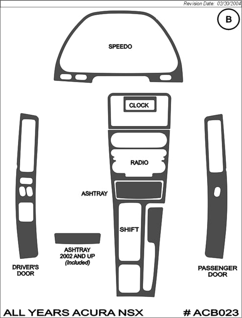 Shop Acura NSX Interior Dash Trim Kits