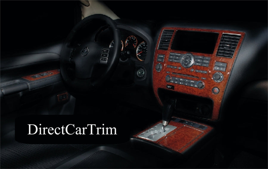 2007-2008 Nissan Armada SE Wood Grain Dash Trim Kit - DirectCarTrim