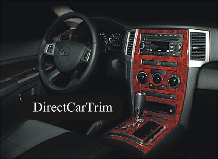 2008-2010 Jeep Grand Cherokee Wood Grain Dash Trim Kit - DirectCarTrim