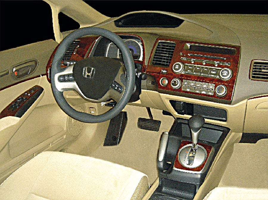 2006-2011 Honda Civic Wood Grain Dash Trim Kit - DirectCarTrim