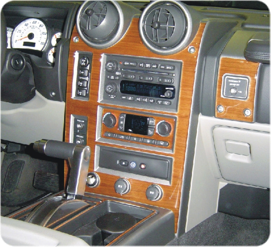 2004-2007 Hummer H2 Wood Grain Dash Trim Kit - DirectCarTrim