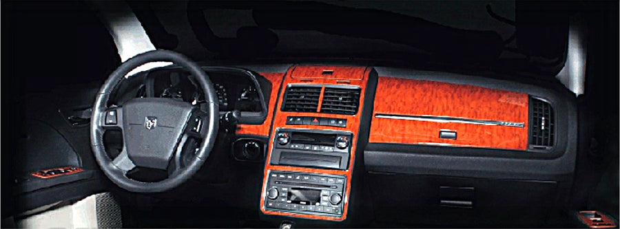 2009+ Dodge Journey Wood Grain Dash Trim Kit - DirectCarTrim