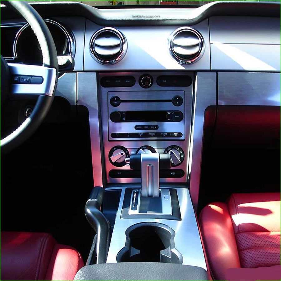 2005-2009 Ford Mustang Real Brushed Aluminum Dash Trim Kit - DirectCarTrim