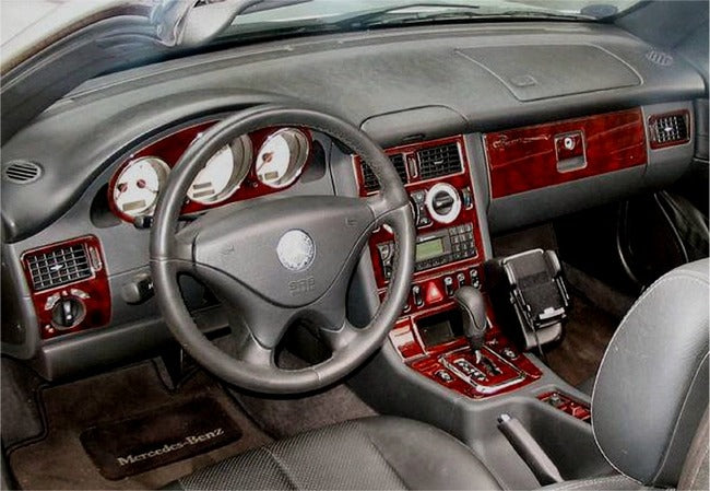 2001-2004 Mercedes Benz SLK Wood Grain Dash Trim Kit - DirectCarTrim