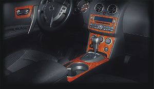 2008+ Nissan Rogue Wood Grain Dash Trim Kit - DirectCarTrim