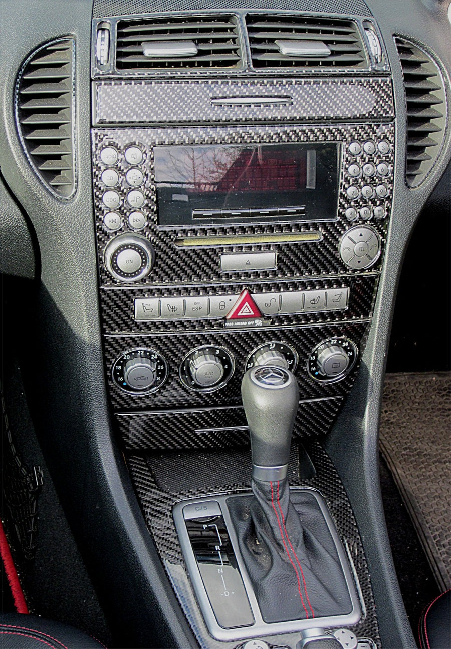 2009-2011 Mercedes Benz SLK Real Carbon Fiber Dash Trim Kit - DirectCarTrim