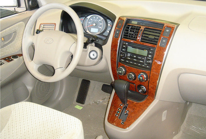 2005-2007 Hyundai Tucson Wood Grain Dash Trim Kit - DirectCarTrim