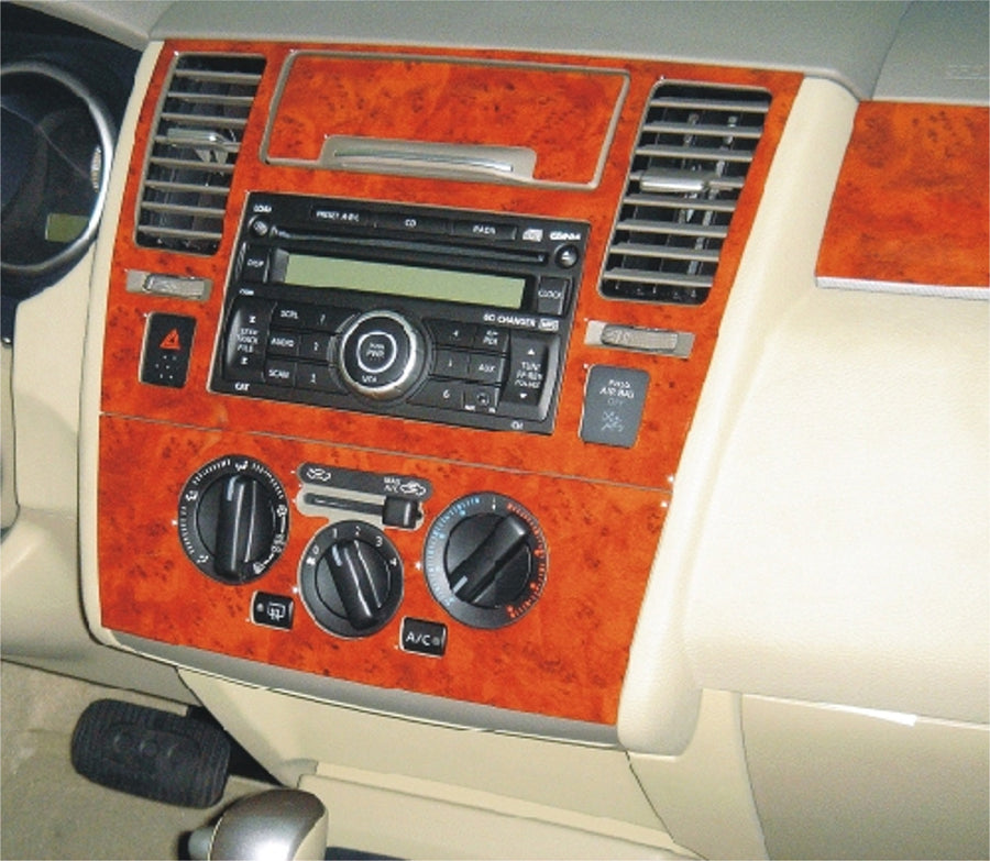 2007-2009 Nissan Versa Wood Dash Trim Kit - DirectCarTrim