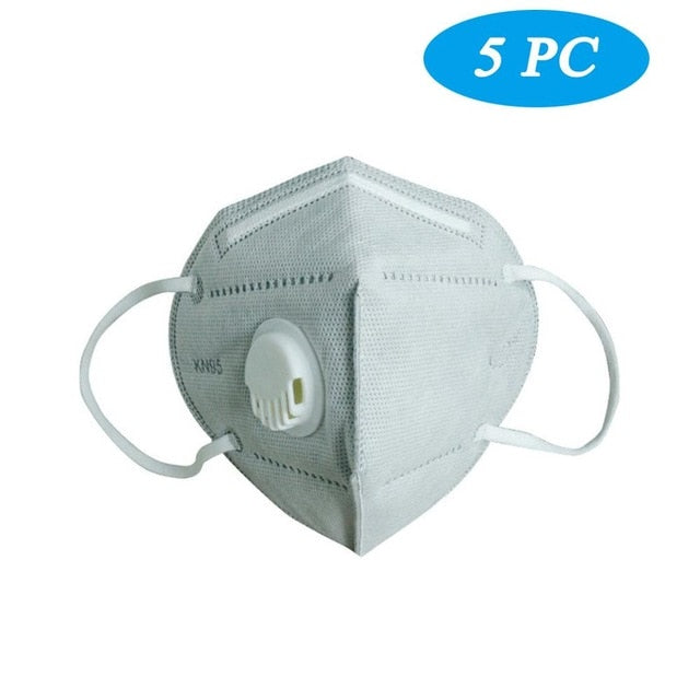 KN95 Facemask with Valve - 5PCS