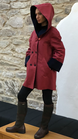 Short Hooded Coat (SHC) BERRY/NAVY