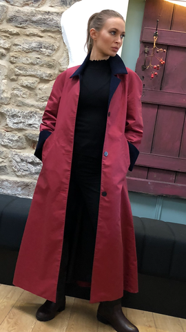 Long Walking Coat (LWC) BERRY/NAVY/ORANGE