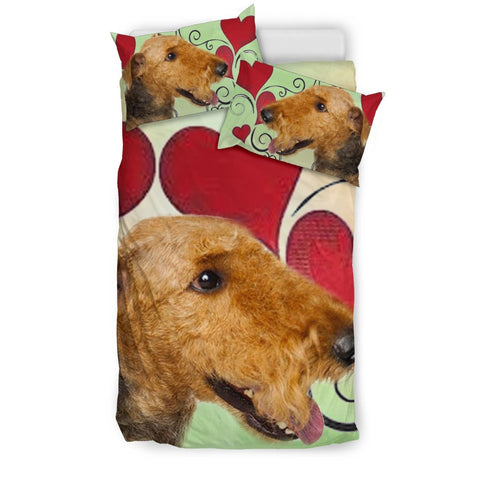 Airedale Terrier Love Print Bedding Sets