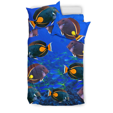 Acanthurus Achilles Fish Print Bedding Set