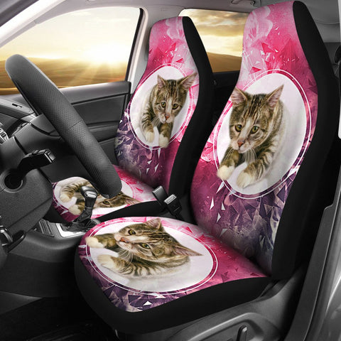 Amazing American Shorthair Cat Print Car Seat Covers