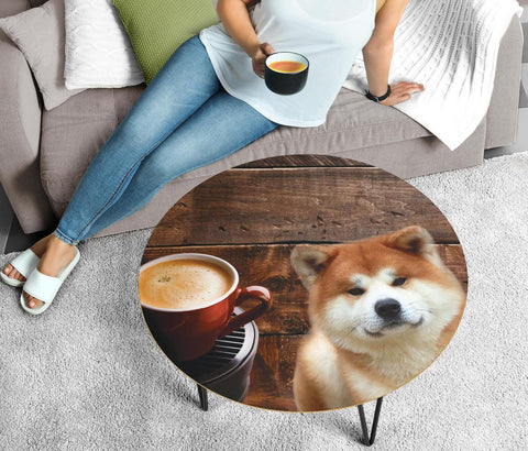 Akita Print Circular Coffee Table