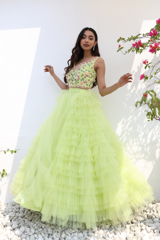 Neon Green Gown