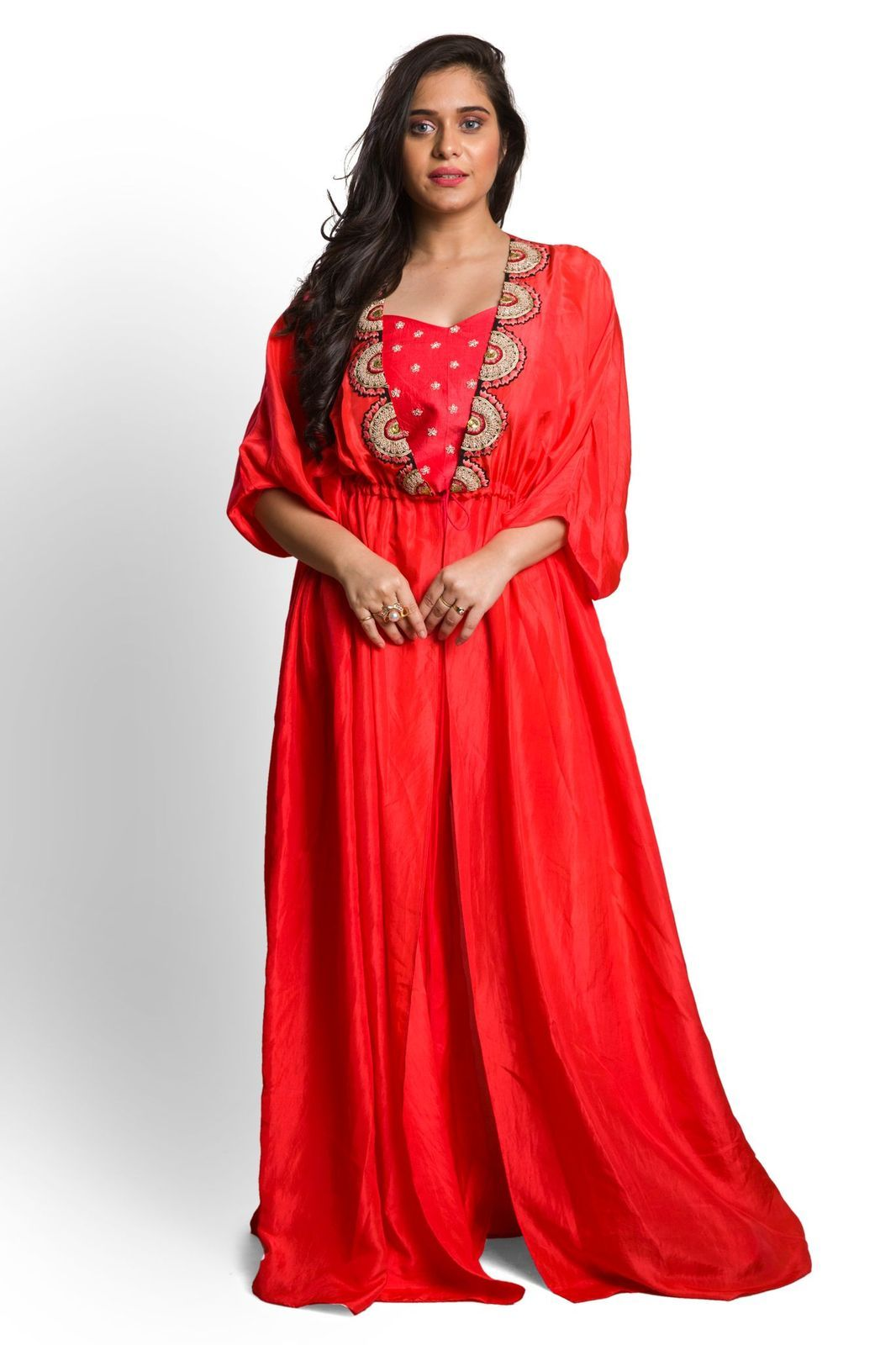 Trendy Kaftan dress with inner and pants
