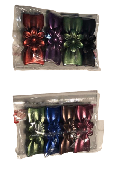 Flower Bow Hijab Pin Set of 4