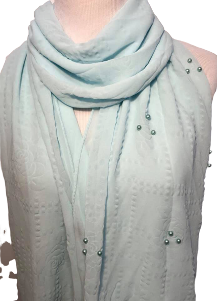 Long Shawl Hijab Wrap With Beads
