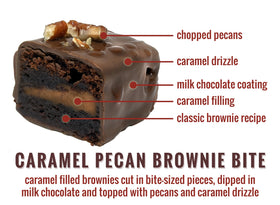 Caramel Pecan Brownie Bites - 12-Piece
