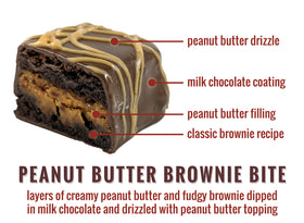 Peanut Butter Brownie Bites - 12-Piece
