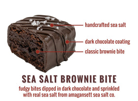 Sea Salt Brownie Bites - 12-Piece