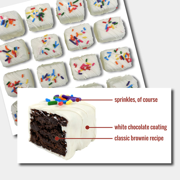 White Chocolate Brownie Bites - 12-Piece