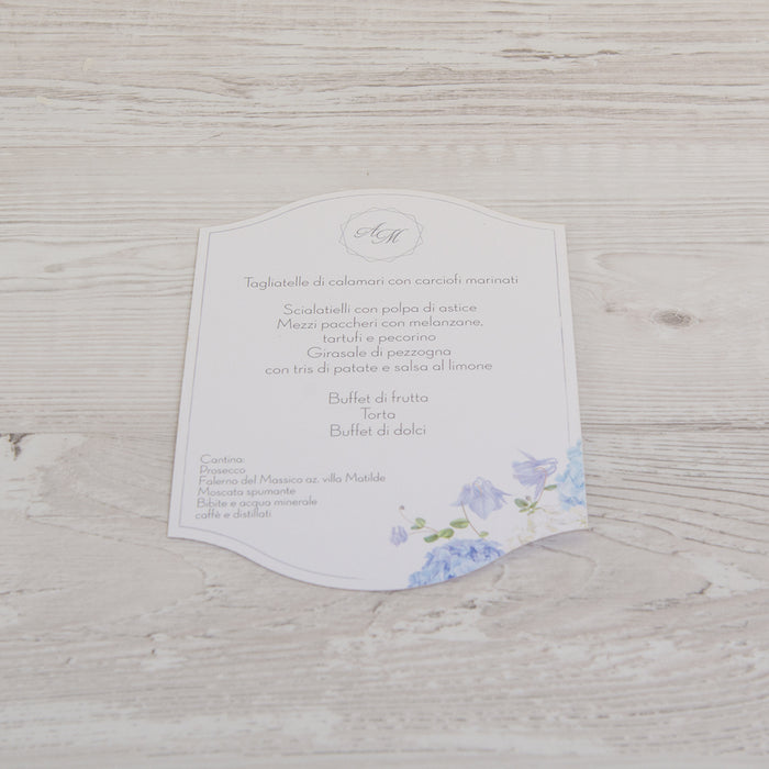 Blue Hortensia Menu