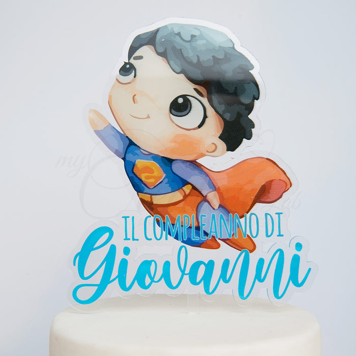 Mini hero cake topper