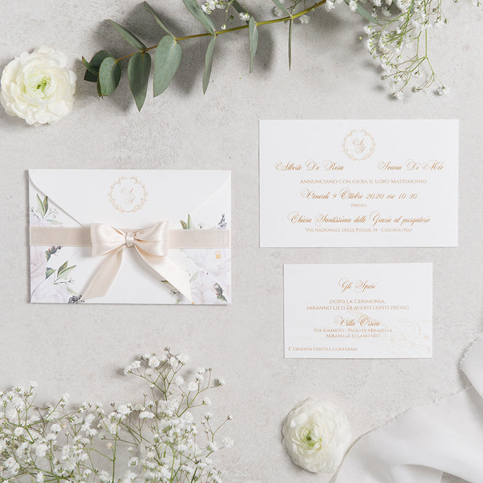 White Wedding Envelope