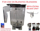 the Real Rebel Jar by Alterna Jars for Blendtec with replaceable sharp blades