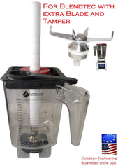 Aftermarket replacement blender container for Blendtec