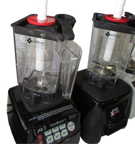 Omni Waring blender Alterna jar 45 degrees perpendicular placement