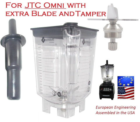Alterna Jar fits JTC Omni Blender w/ EXTRA blade assembly + Tamper; 80oz capacity