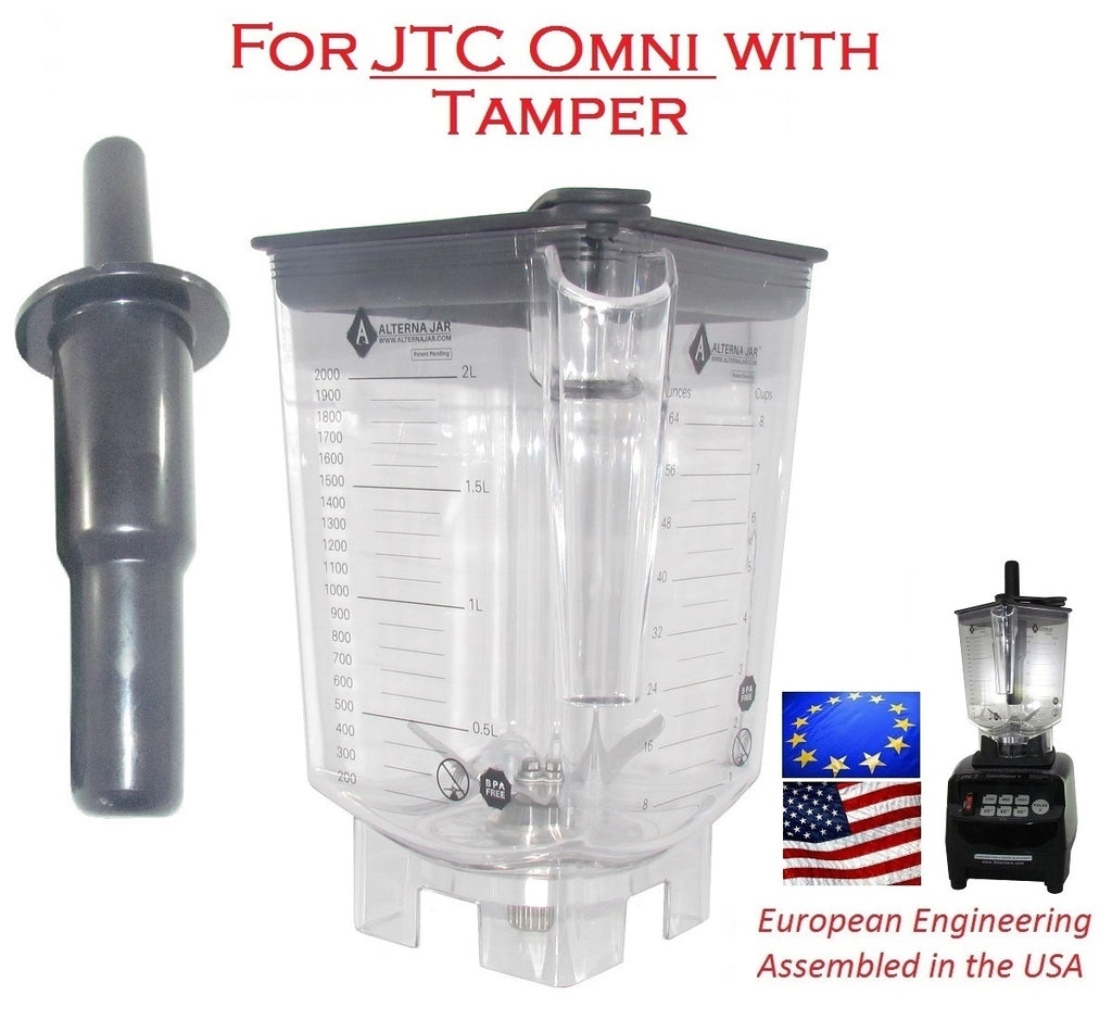 Alterna Jar fits JTC Omniblend Blenders - 80 oz with blade assembly + Tamper